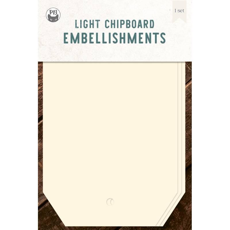 "Light chipboard album base Tags 01, 4x6"""