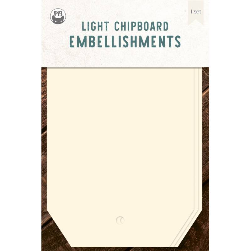 Light chipboard album base Tags 01, 4x6""
