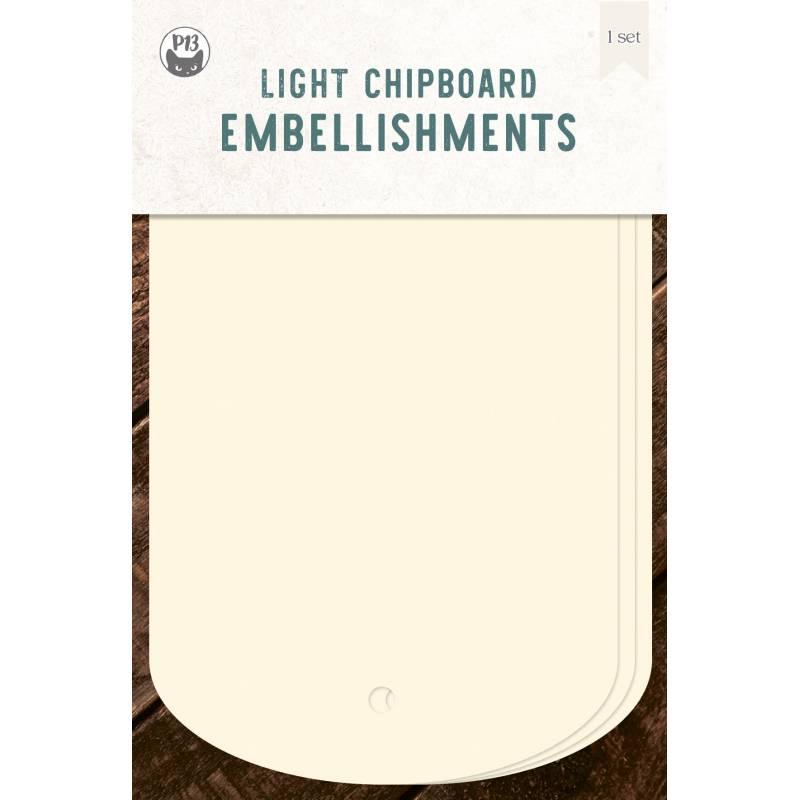 "Light chipboard album base Tags 03, 4x6"""