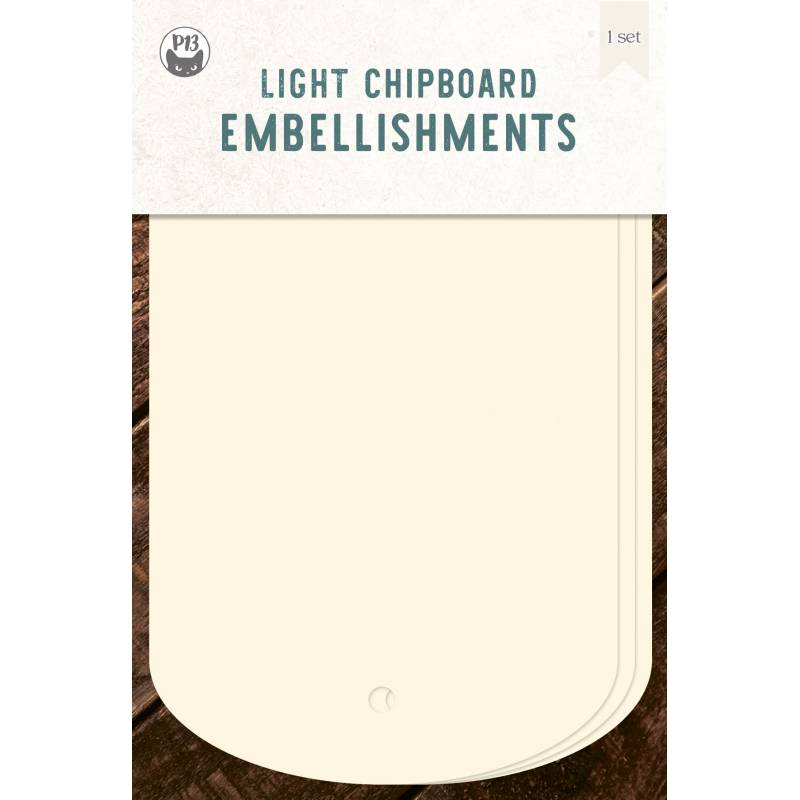 Light chipboard album base Tags 03, 4x6""