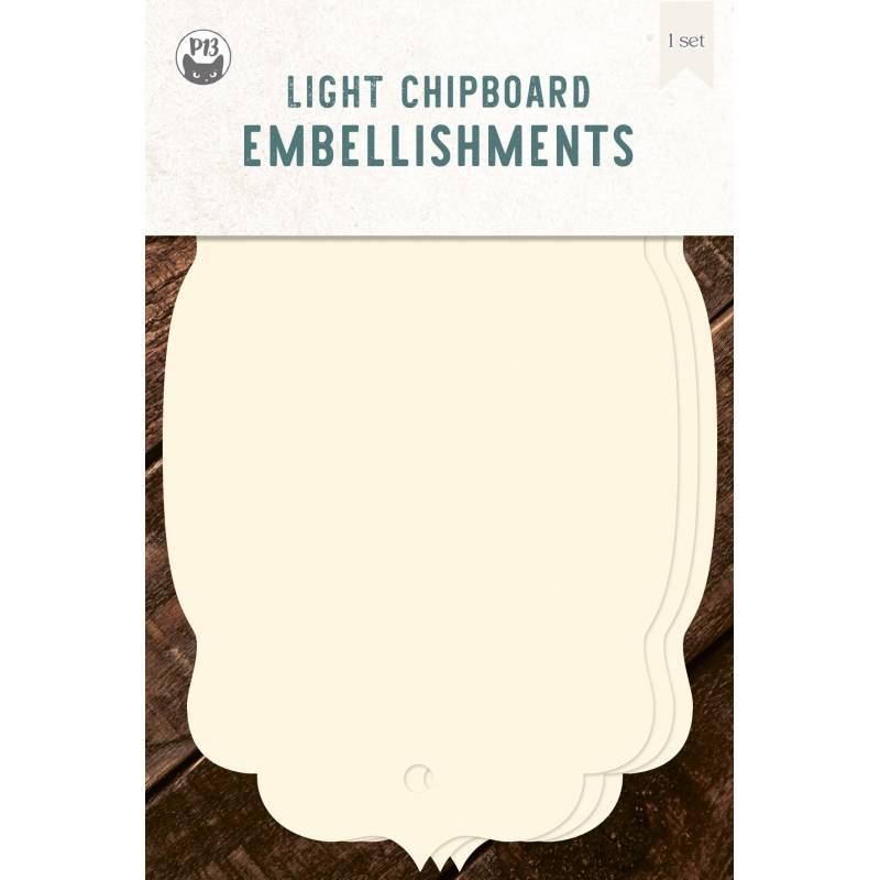 "Light chipboard album base Tags 04, 4x6"""