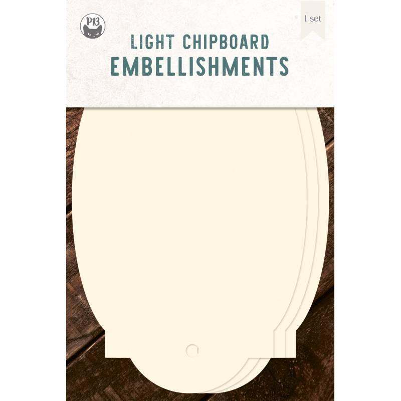 "Light chipboard album base Tags 05, 4x6"""