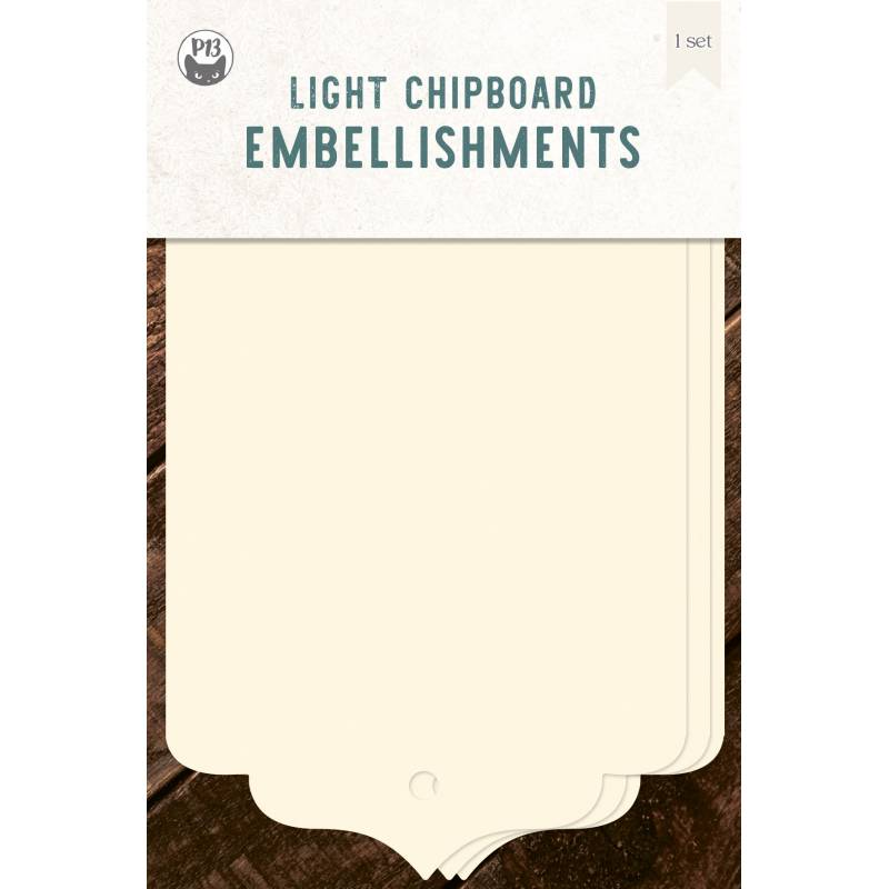 Light chipboard album base Tags 06, 4x6""