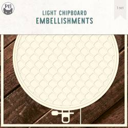 """Light chipboard deco base Embroidery Hoop 01, 6x6"""""""