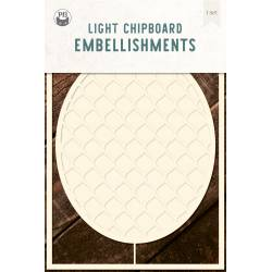 """Light chipboard deco base Embroidery Hoop 02, 4x6"""""""
