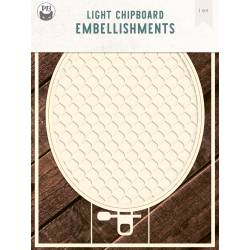 """Light chipboard deco base Embroidery Hoop 03, 6x8"""""""