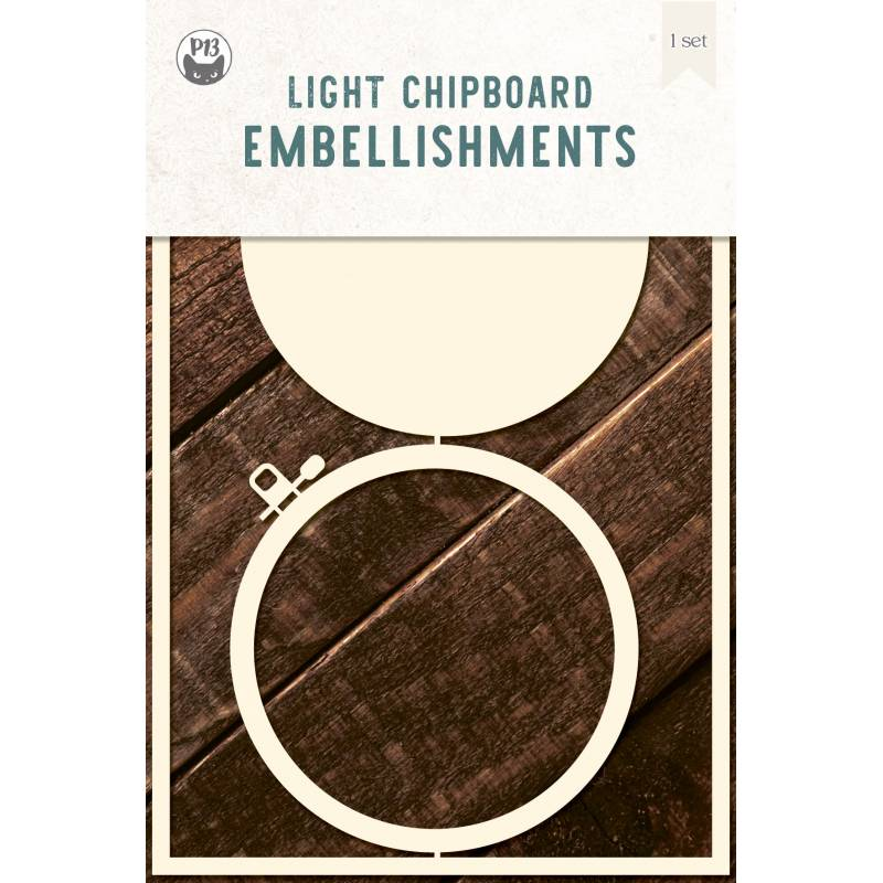 """Light chipboard deco base Embroidery Hoop 04, 4x6"""""""