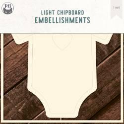 "Light chipboard deco base Bodysuit 01, 6x6"""