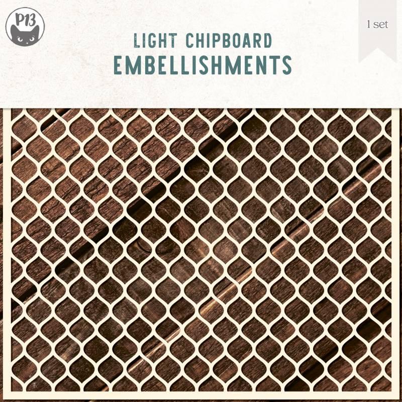 "Light chipboard deco base Background 01, 6x6"""