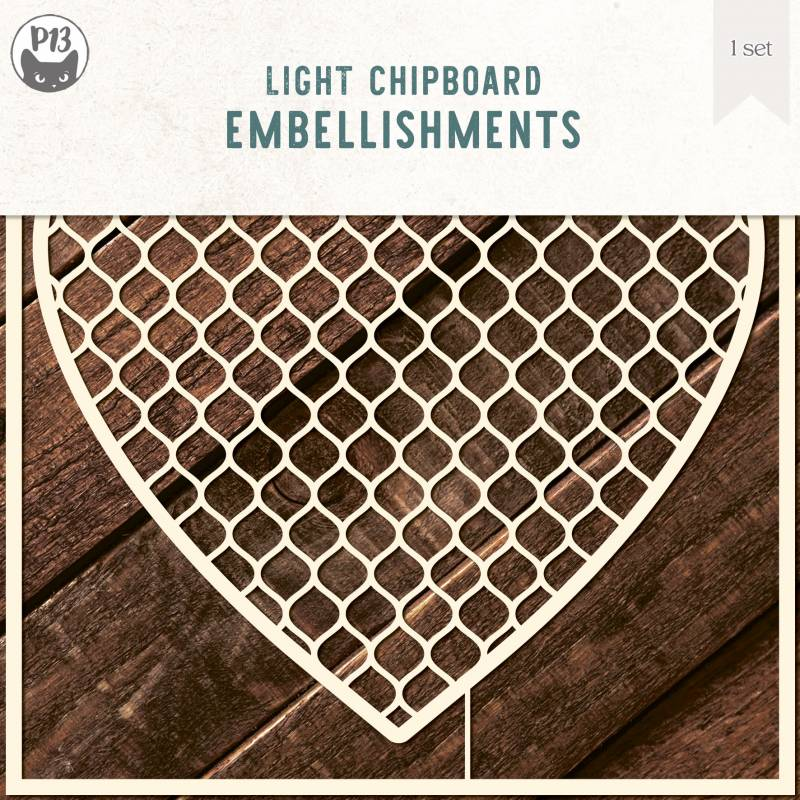 Light chipboard deco base Background 02, 6x6""