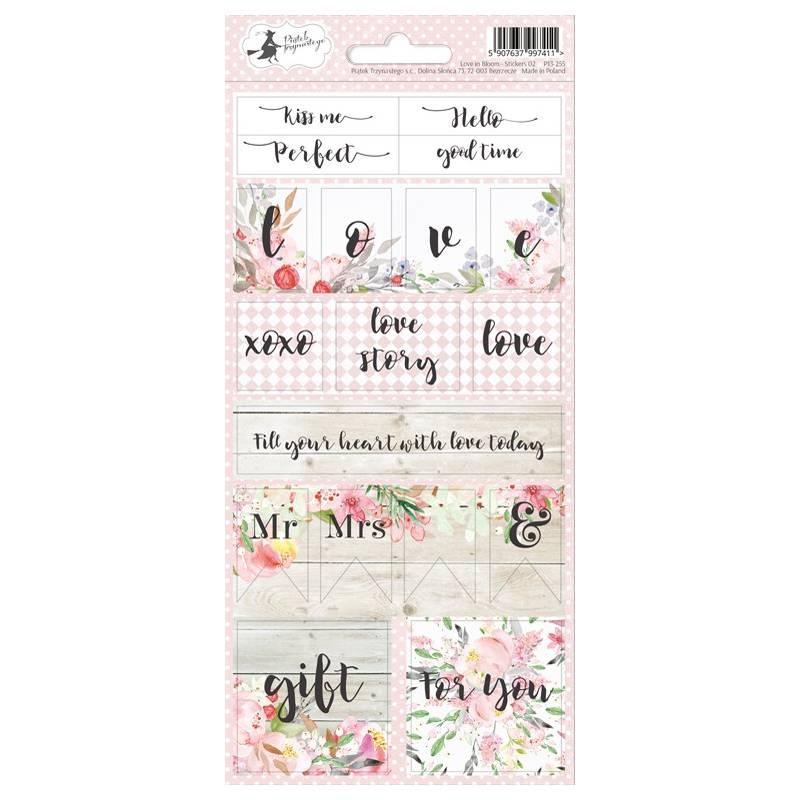 Sticker sheet Love in Bloom 02, 10,5 x 23cm