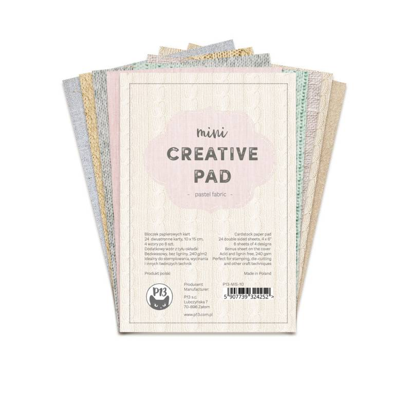 Mini Creative pad - Fabric, 6x4""