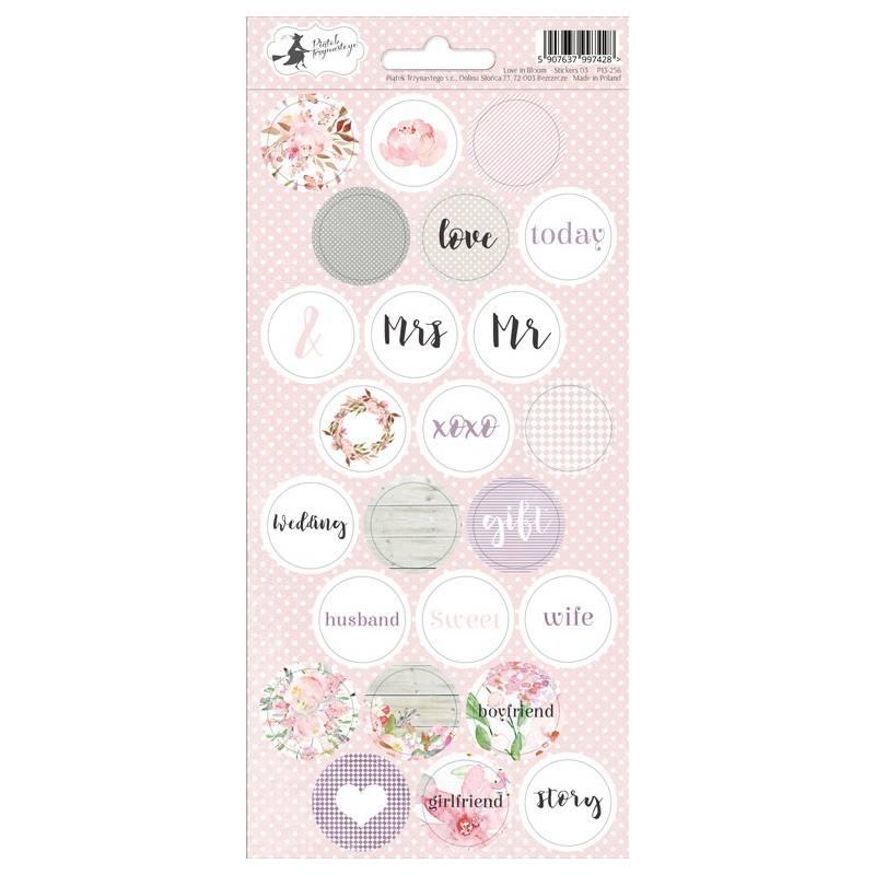 Sticker sheet Love in Bloom 03, 10,5 x 23cm