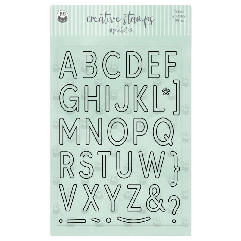 Clear stamp set Alphabet 02 A5, 35pcs