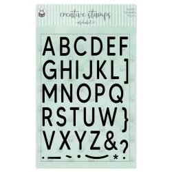 Clear stamp set Alphabet 01 A5, 35pcs