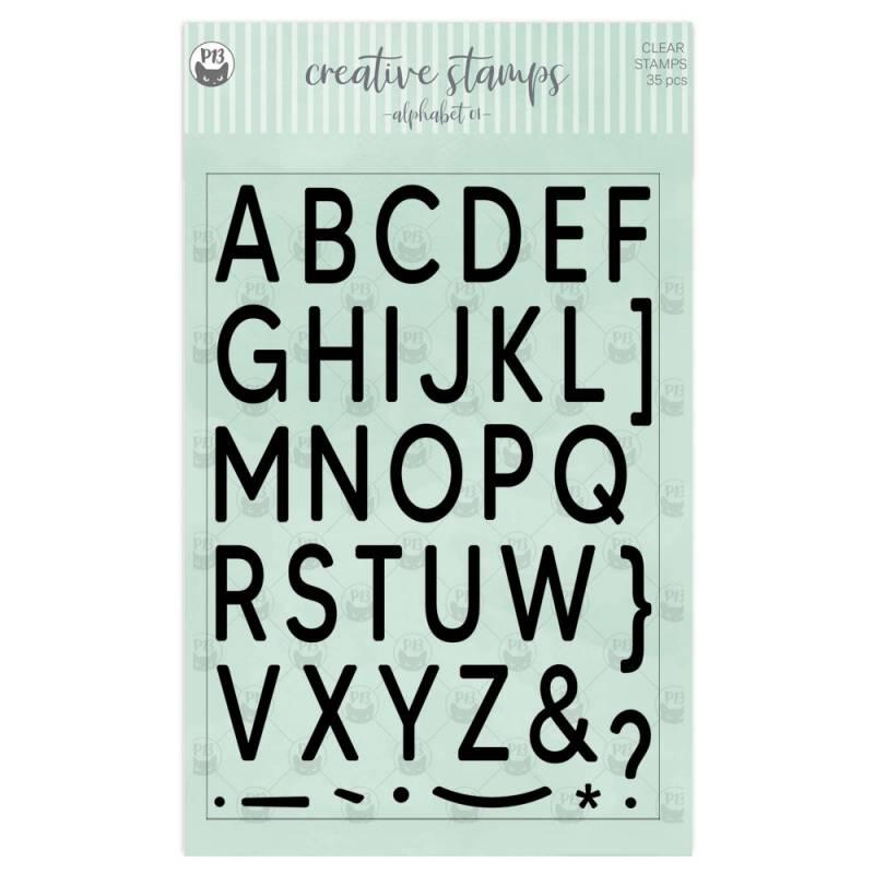 Zestaw stempli Alfabet 01 A5, 35szt.