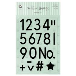 Clear stamp set Numbers 01 A6, 18pcs