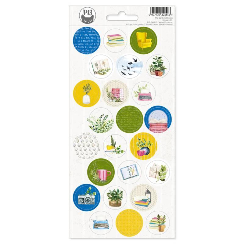 Sticker sheet The  Garden of Books 02, 10,5 x 23cm