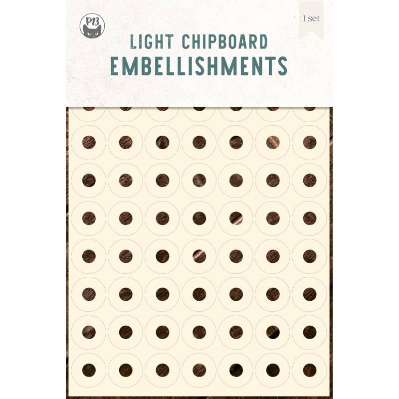 "Light chipboard embelishments Reinforcers 01, 4x6"""