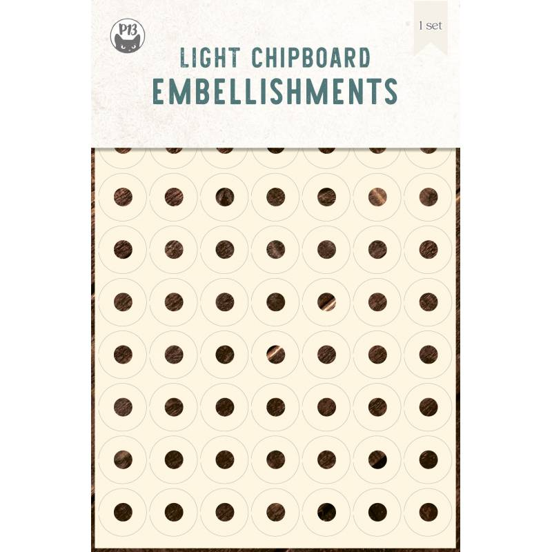 Light chipboard embelishments Reinforcers 01, 4x6""
