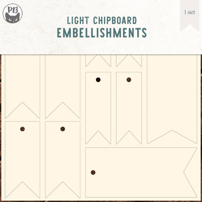"""Light chipboard embellishments set for Collection Tags 02, 6x6"""""""