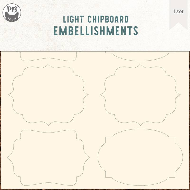 """Light chipboard embellishments set for Collection Tags 04, 6x6"""""""