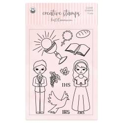 Clear stamp set First Holy Communion A6, 11pcs