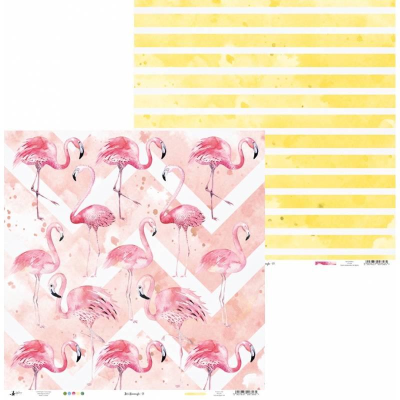 """Papier Let's flamingle 01, 12x12"""""""