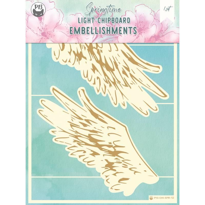 "Light chipboard embellishments Springtime 12, 6x8"", 2pcs"