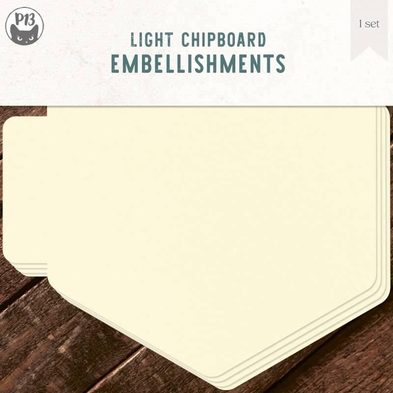 """Light chipboard album base Hexagon, 6x6"""", 1set"""