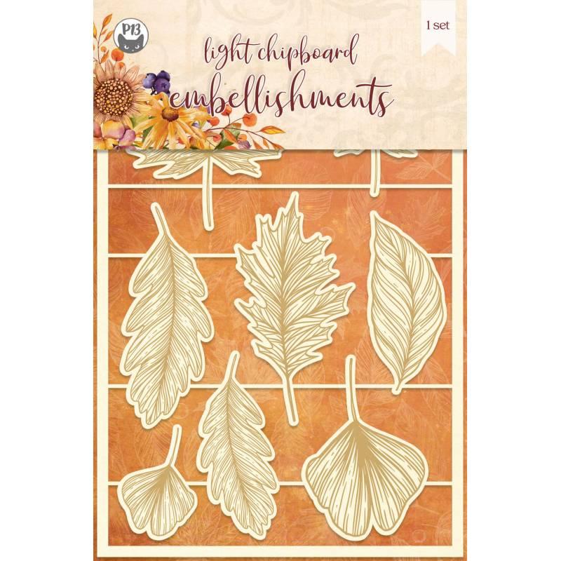 Light chipboard embellishments The Four Seasons - Autumn 01, 8 pcs