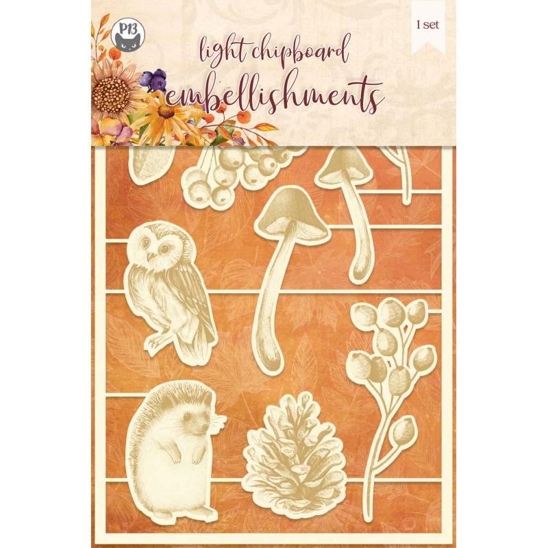 Light chipboard embellishments The Four Seasons - Autumn 02, 8pcs