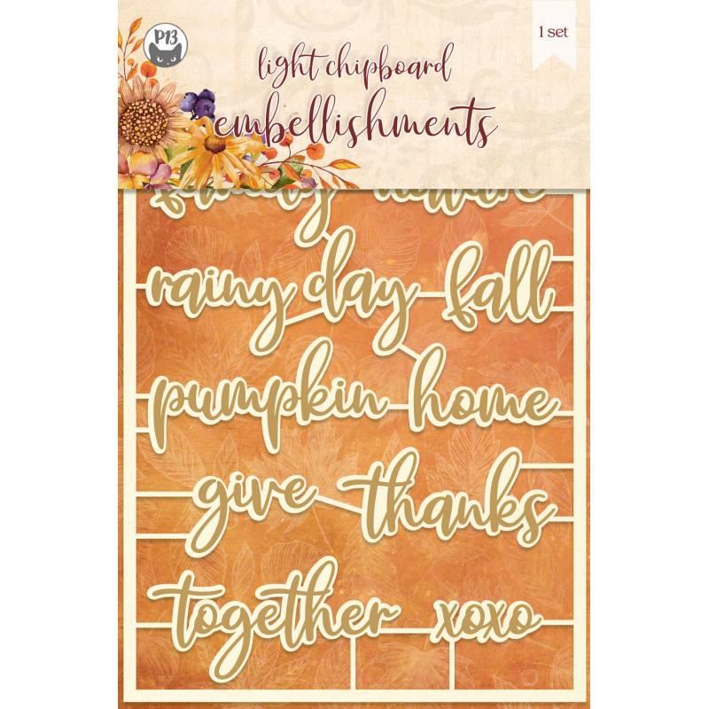 Light chipboard embellishments The Four Seasons - Autumn 04, 13pcs