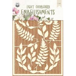 Light chipboard embellishments Forest tea party 04, 11pcs