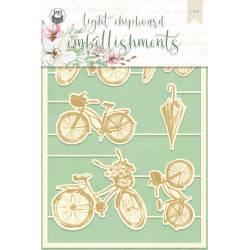 Light chipboard embellishments The Four Seasons - Spring 03, 9pcs