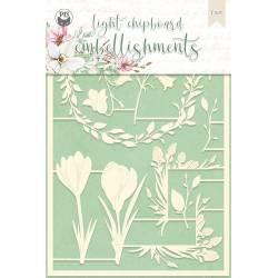 Light chipboard embellishments The Four Seasons - Spring 04, 10pcs