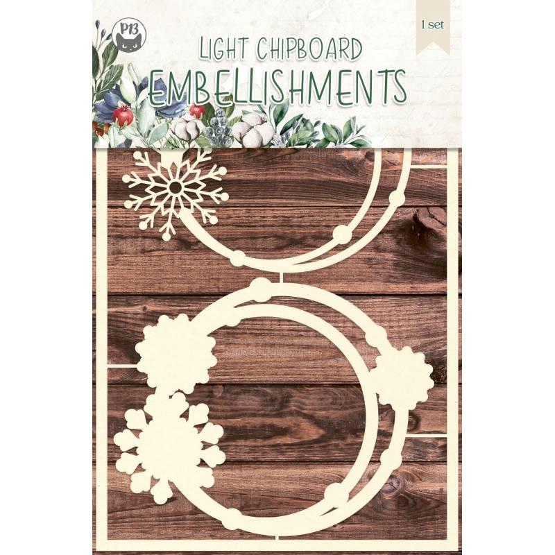 Light chipboard embellishments The Four Seasons - Winter 01, 2pcs