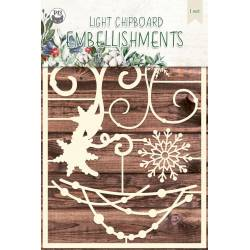 Light chipboard embellishments The Four Seasons - Winter 02, 5pcs