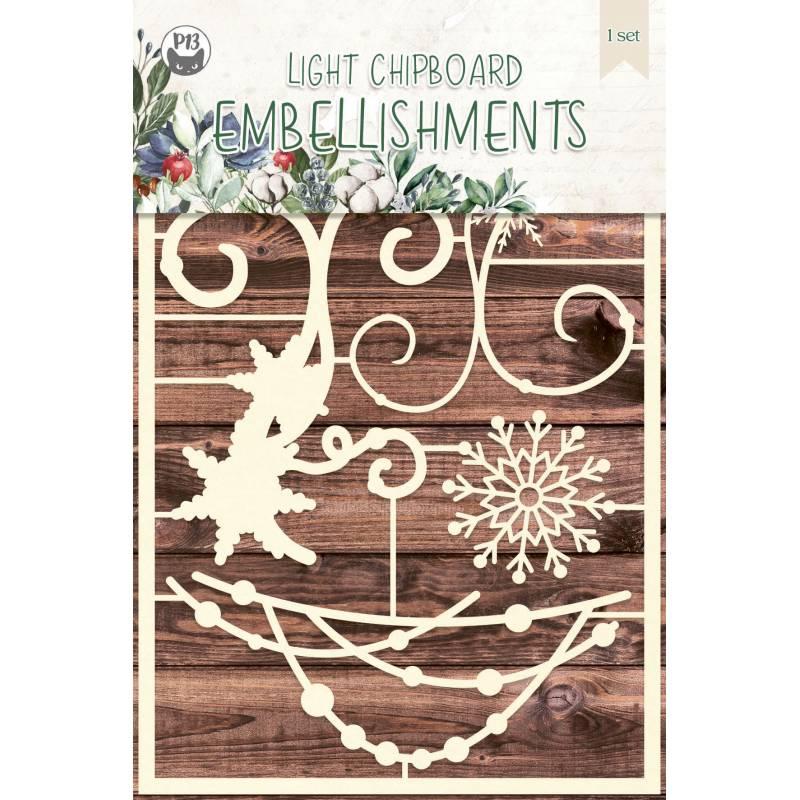Light chipboard embellishments The Four Seasons - Winter 02, 5pcs