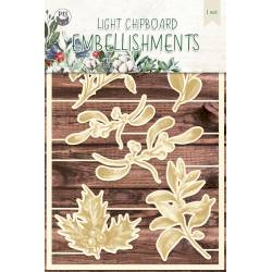 Light chipboard embellishments The Four Seasons - Winter 03, 6pcs