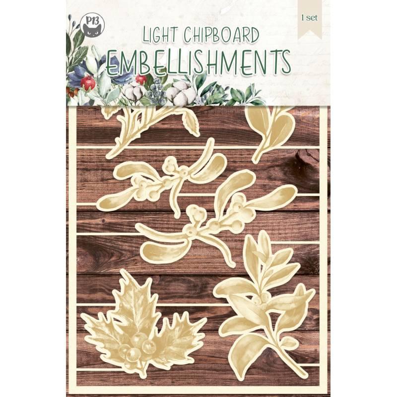 Light chipboard embellishments The Four Seasons - Winter 03, 6pcs