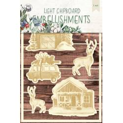 Light chipboard embellishments The Four Seasons - Winter 04, 6pcs