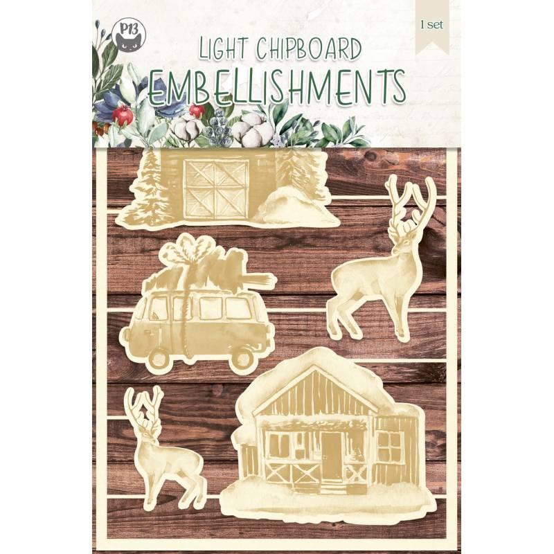 Light chipboard embellishments The Four Seasons - Winter 04, 6pcs