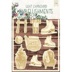 Light chipboard embellishments The Four Seasons - Winter 05, 10pcs
