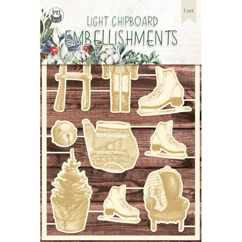 Light chipboard embellishments The Four Seasons - Winter 05, 10pcs