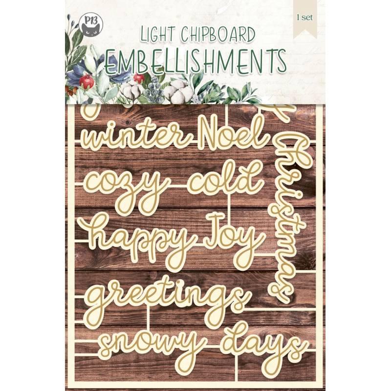 Light chipboard embellishments The Four Seasons - Winter 07, 12pcs