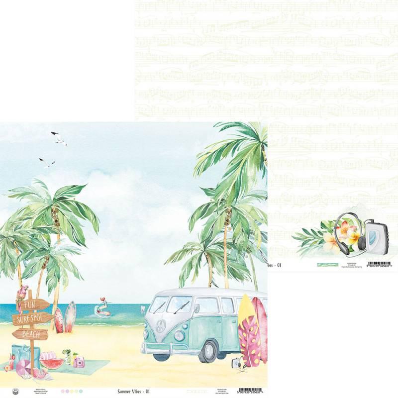 """Papier Summer vibes 01, 12x12"""""""