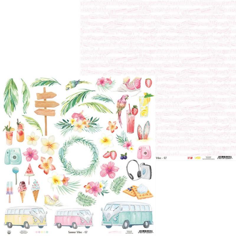 """Papier Summer vibes 07, 12x12"""""""