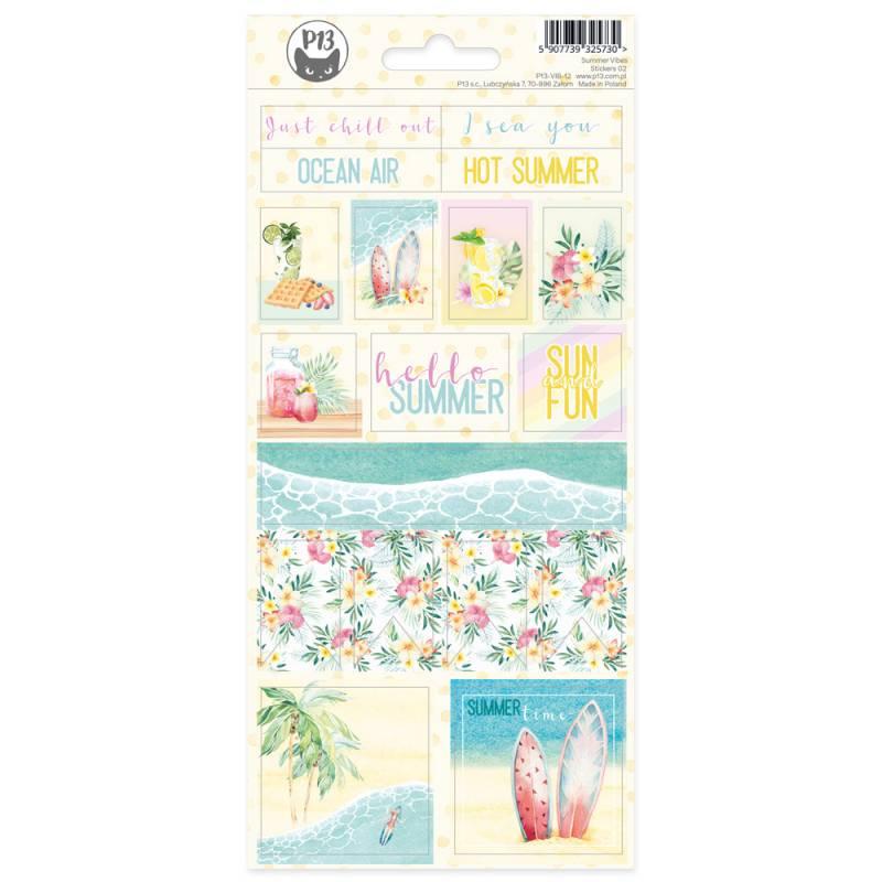 Arkusz naklejek Summer vibes 02, 10,5 x 23cm