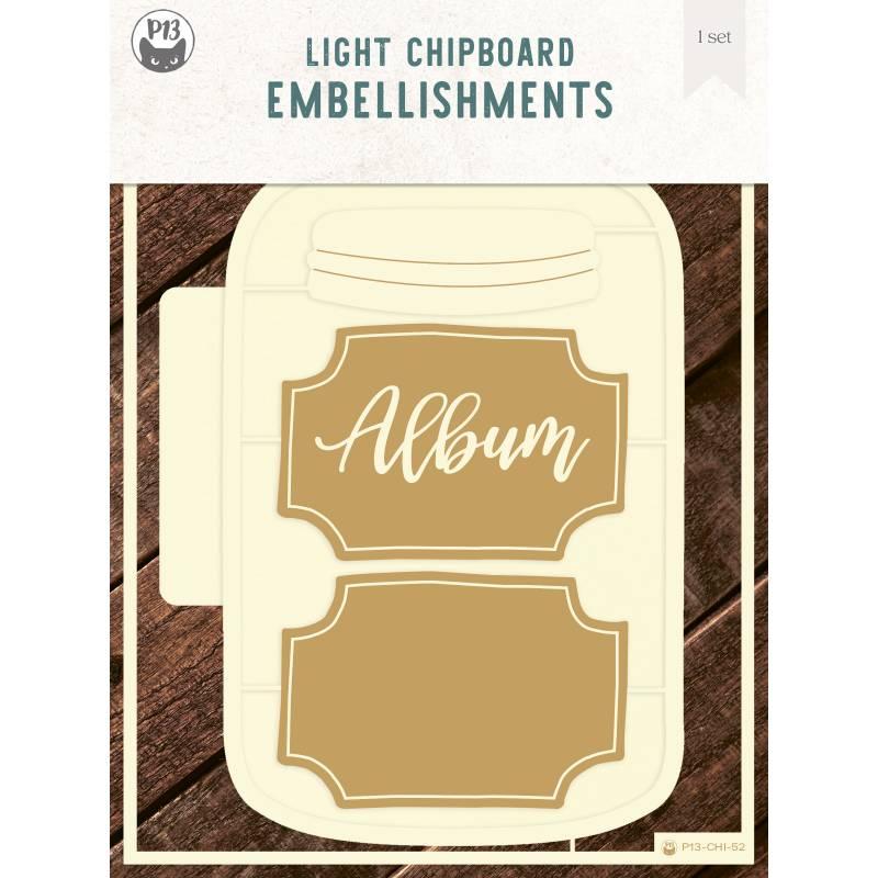 "Light chipboard album base Jar, 6x8"", 1 set"